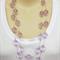Lilac Light Purple Floating Necklace Handmade OOAK by Top Shelf Jewellery
