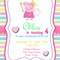 Peppa Pig-fairy wand- Digital Party Invitation