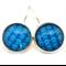 LEVER BACK EARRINGS- Blue ripples