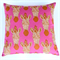 Rich Earthy Brown and Cream Zebras on Hot Pink  Cushion Cover