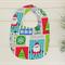 Jolly Santa Christmas design bib