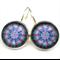 LEVER BACK EARRINGS- Blue mandala