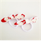 Bow Hair Ties - Red Star