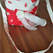 Kids Bag - Red Cream Cream Reindeers