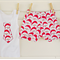 Size 0-3months babies' 'Santa's Face' design shorts and singlet set