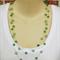 Green Floating Necklace Handmade OOAK by Top Shelf Jewellery