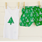 Size 3-6months babies' 'Christmas Tree'  design shorts and singlet set