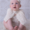 Christening or baptism cape Baby shrug crochet wool knit