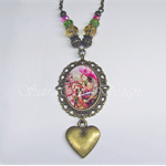 Hidden Angel - Antique Gold Cameo Necklace