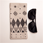 Sunglass Case, Screen printed in Black Geometric design