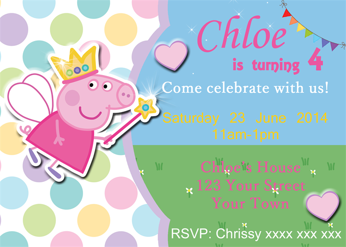 peppa pig party invitations – gangcraft, Party invitations