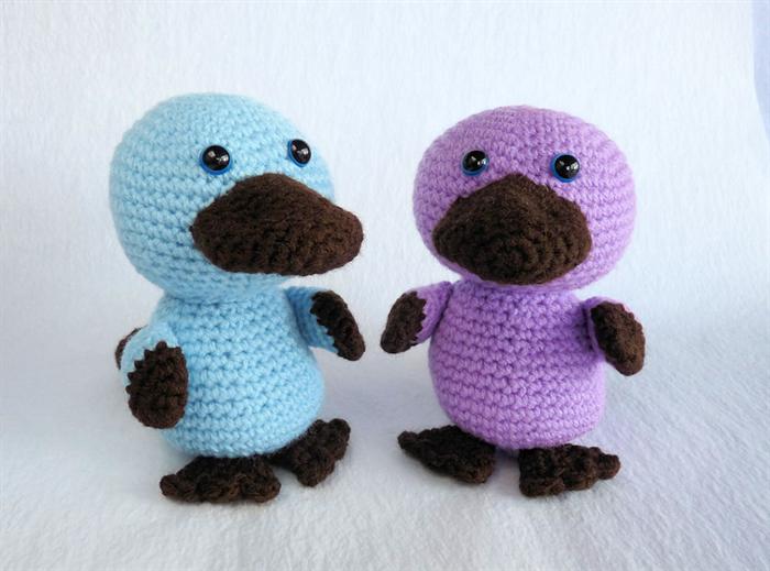 Amigurumi Yarn Australia : Crochet Baby Platypus, Amigurumi Purple Platypus ...