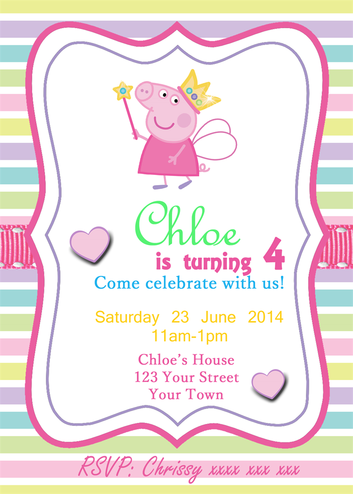 Peppa Pig-fairy wand- Digital Party Invitation | Scissors ...