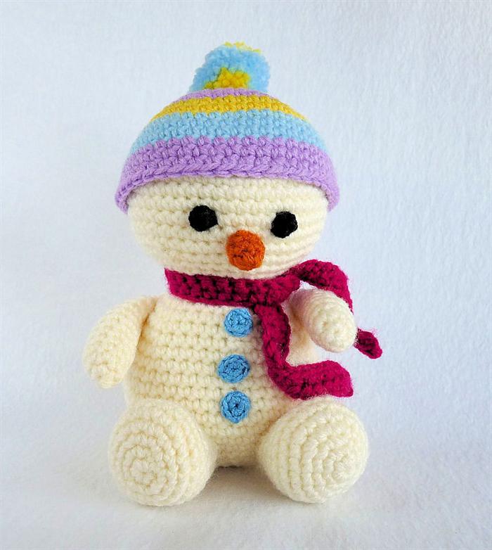 Crochet Amigurumi Snowman PATTERN ONLY, Happy, Christmas Snowman ... | 782x700