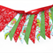 Christmas Red / Green - Flag Bunting Decoration. Vintage Style!