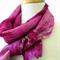 FREE SHIPPING - Hand dyed Magenta Pink Silk Scarf - Zinnia