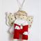 Angel Alphabet - Eco friendly felt Hanging Ornament, Christmas, Baby nursery