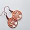 Rose gold tree earrings