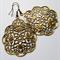 Antique Bronze Filigree Earrings