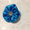 Blue Satin Hair Tie with Bling - Frozen, Christmas