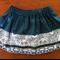 Girls Skirt Size 2-3 Retro Feature Hem
