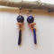 EARRINGS Lapis lazuli gems and pure copper plated bead drop earrings