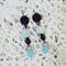 Copper and aqua, sea blue earrings
