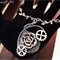 Wire Wrapped Steampunk Rose Necklace