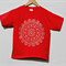8-10 yrs Kid's Red Christmas Tee with White Doily Print