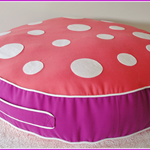 Large Toadstool / Mushroom Floor Cushion: Girls Colour Pop