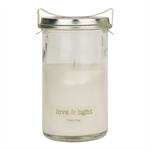 Soy Candle in Vintage Fowlers Vacola Basil, Lime & Mandarin, 100 hours 450g