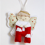 Angel Alphabet - Eco friendly felt Hanging Ornament, Christmas, Baby nursery