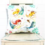 Vintage Mermaid Cushion Cover