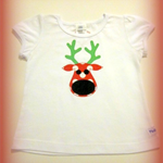 MaisyMoo Designs 'Ruby Reindeer' T-shirt (Singlet & Long Sleeve available)
