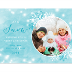 Printable Custom Christmas Photo Card - Let it Snow