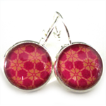LEVER BACK EARRINGS- Pink and orange illusion