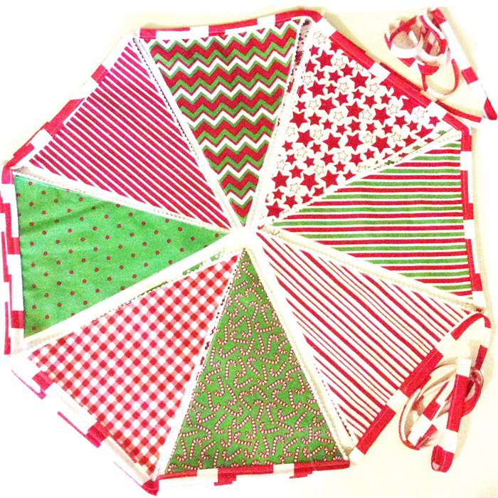 Christmas Bunting Large Fabric Bunting