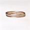 Rose gold stacking rings, set of 3 stacking rings