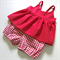 Red gingham bloomers and matching swing top set - custom sizes newborn to 4