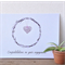 Congratulations on your engagement card - wicker hearts - engagement