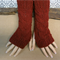 Burgundy Fingerless Gloves, Wrist Warmers, Cabled Arm Warmers Womens Chunky Knit