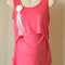 Coral Coloured Maternity/Feeding/Nursing Top with Brooch  (M2)