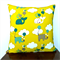 Yellow, Teal, Grey and White  Cotton Cushion Cover