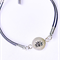 Sterling lotus flower on leather charm bracelet