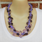 Shades of Purple Crochet Wire Beaded Handmade OOAK Necklace by Top Shelf
