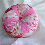 FREE POST round decor cushion coral orange pink designer furnishing fabrics