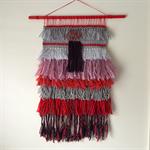 Hand woven wall hanging, tapestry, boho weaving - 'Rosanna'