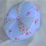 FREE POST Aust. sprocket cushion decor gift.  blues, roses designer fabrics
