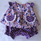 Size 6-12 Month Girls Purple Summer Butterfly Top and Matching Bloomers