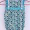 Size 6-12 Month Girls Floral Aqua Onesie / Romper